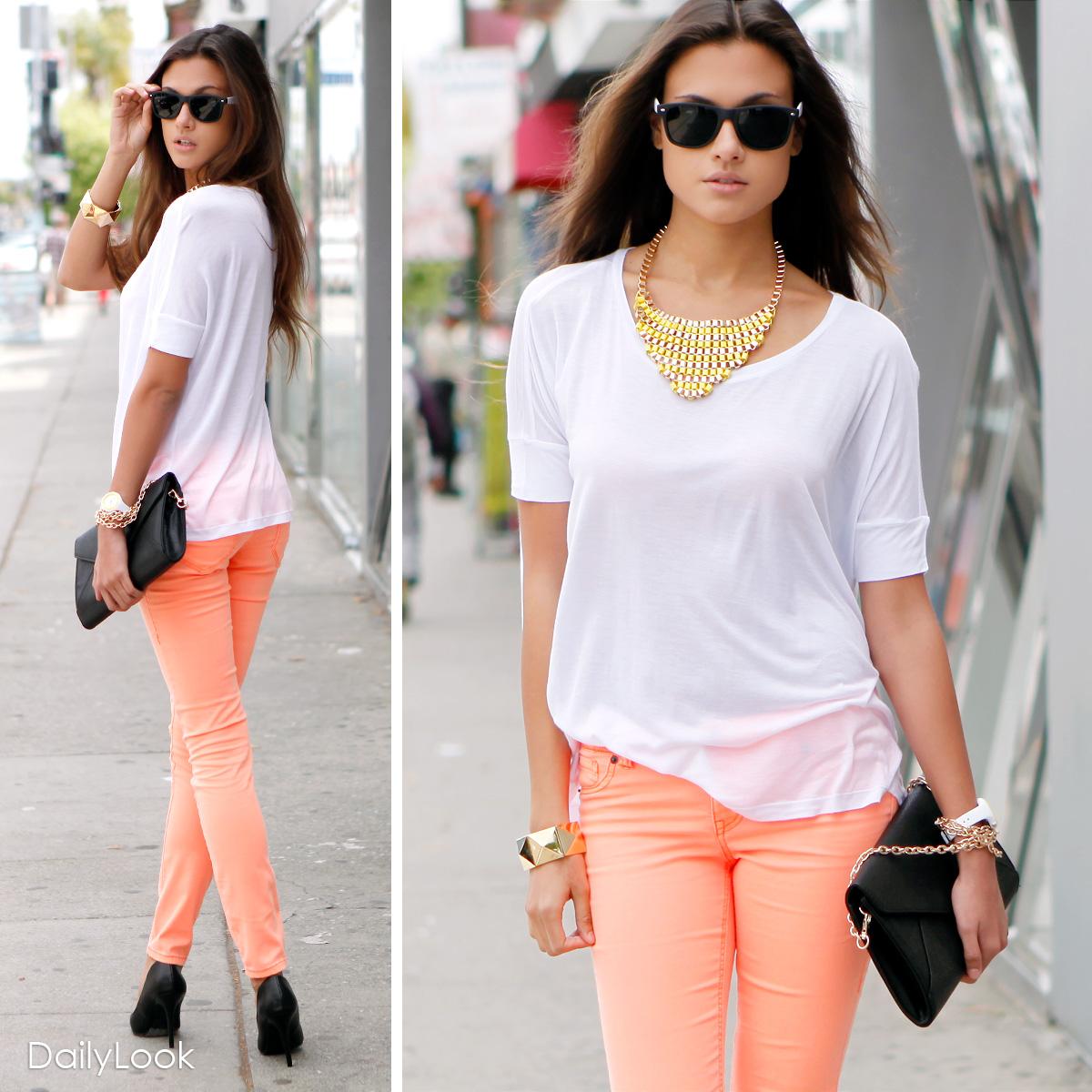 How to Style: Orange Jeans