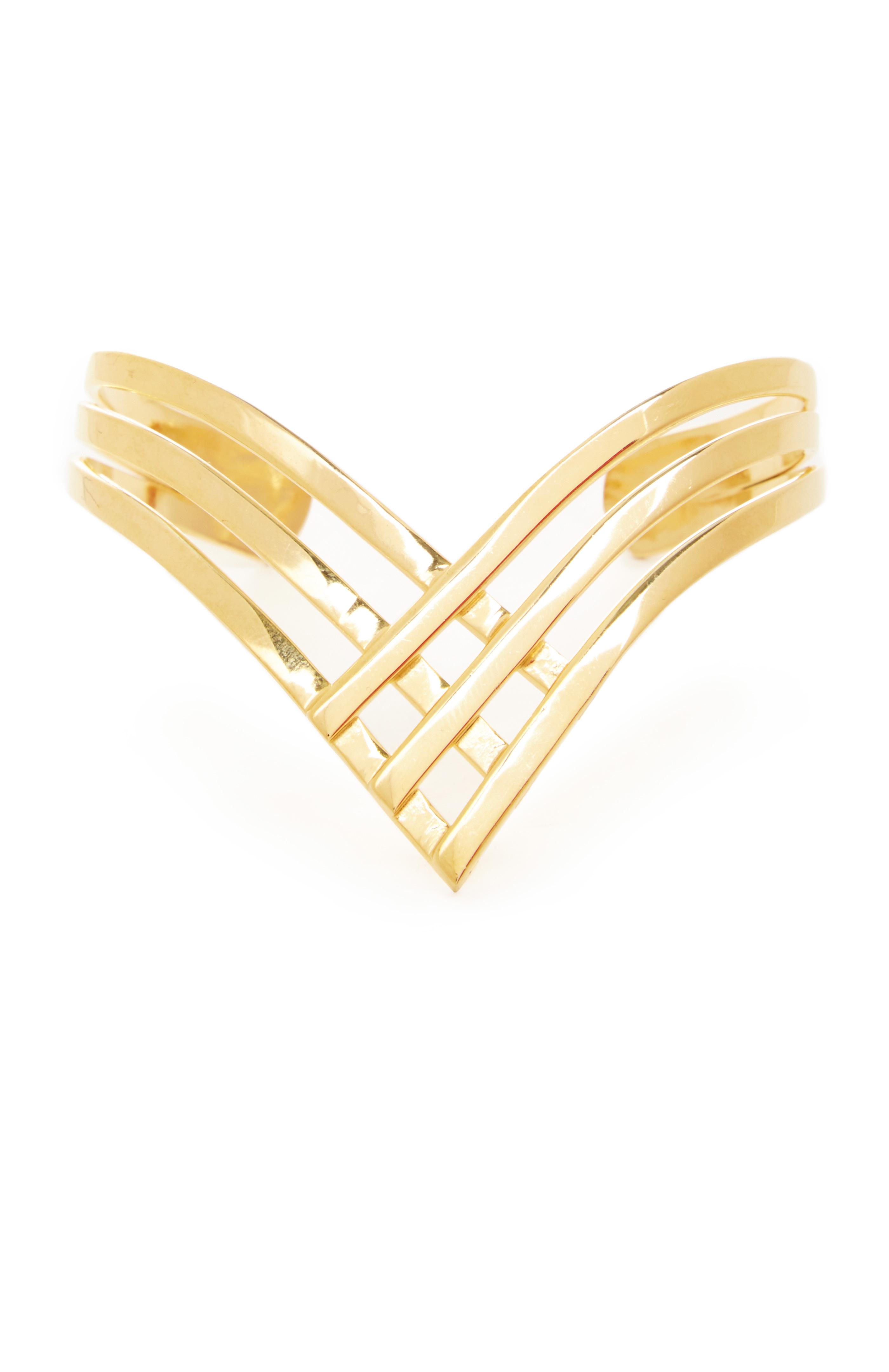Natalie B Lightning Wrist Huggy Bracelet in gold at DAILYLOOK