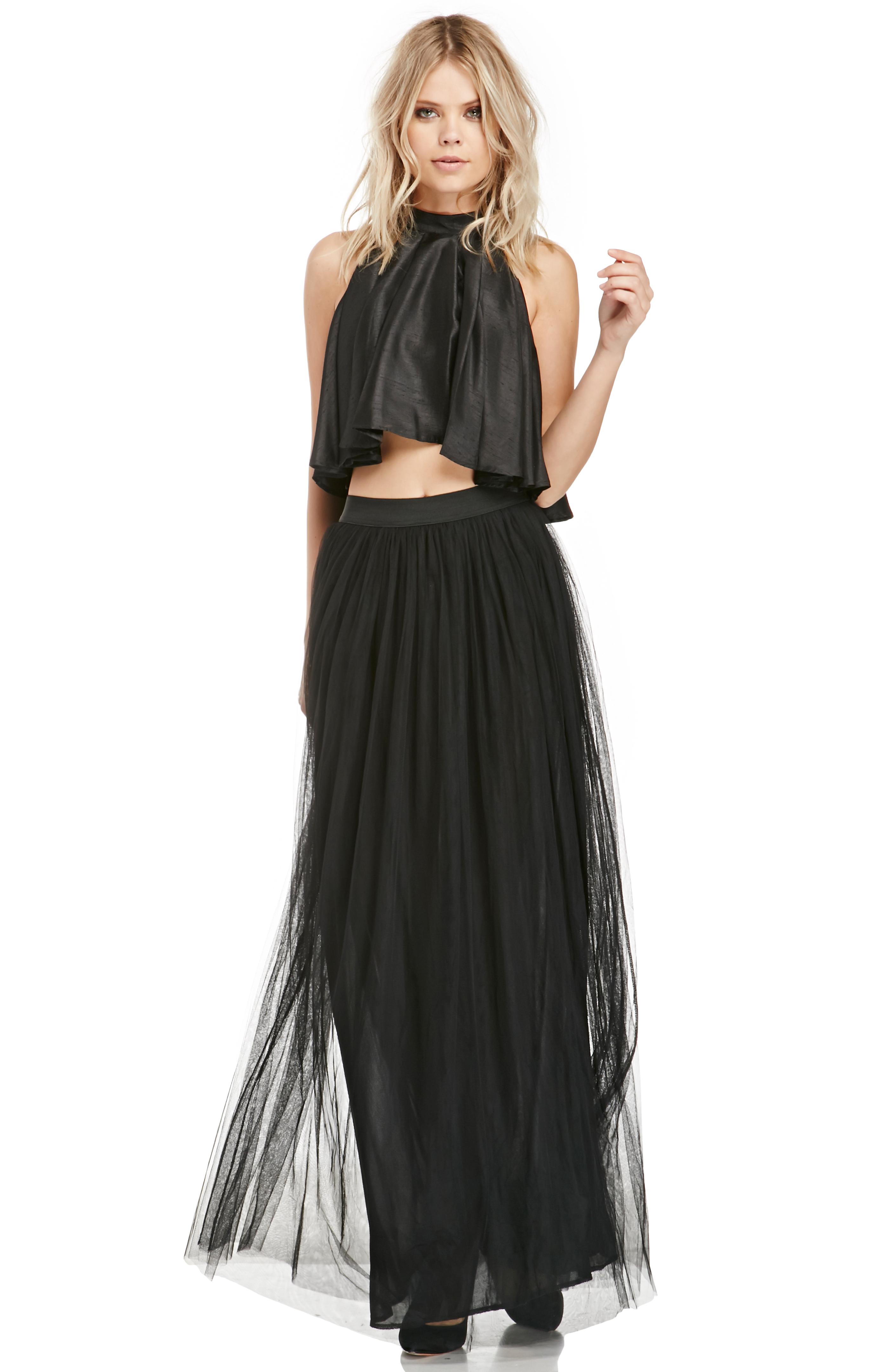 DAILYLOOK Tulle Maxi Skirt in black XS - L at DAILYLOOK