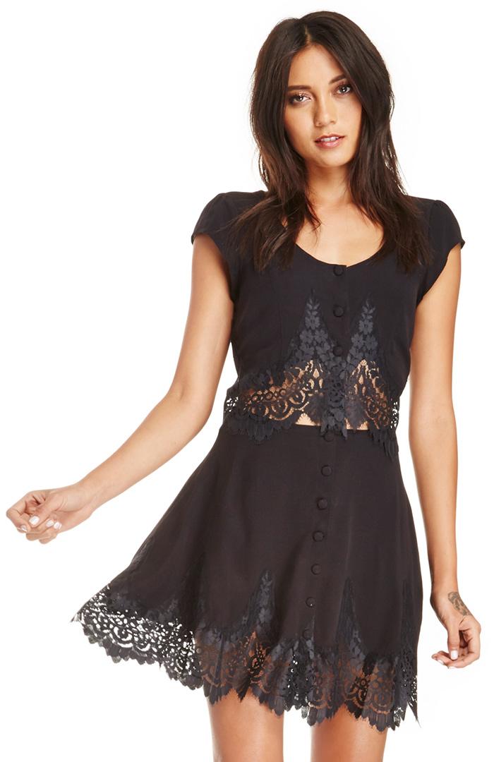 For Love  Lemons Gilly Girl Mini Skirt in black S at DAILYLOOK