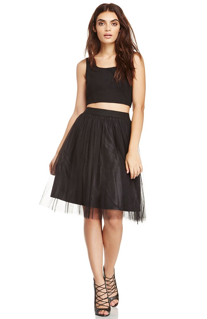 DAILYLOOK Andy Walsh Tulle Skirt in black XS - L at DAILYLOOK
