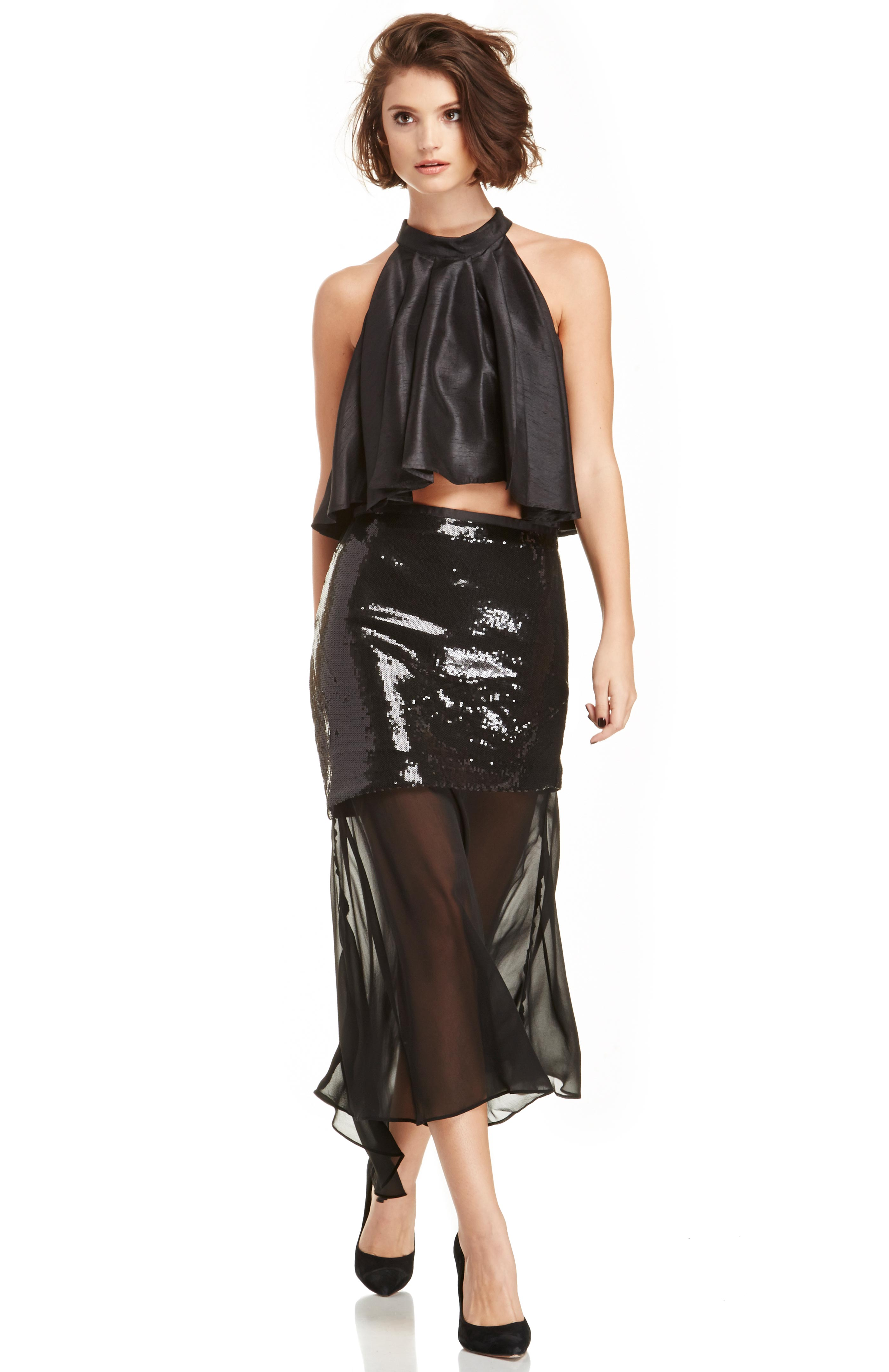 Line  Dot Millionaire Sequin Skirt in black XS - L at DAILYLOOK