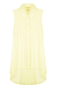 Sleeveless Button Down Top with Cinched Back