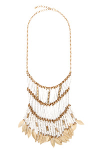Dangling Tribal Leaf Statement Necklace