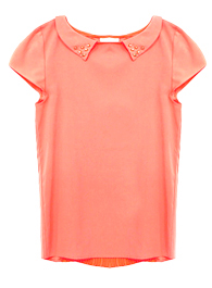 Pleated Back Collar Top
