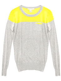 Color Block Pull Over Sweater