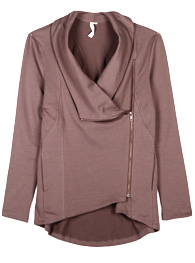 Fold Over Neck Jacket