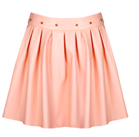 Spike Waist Faux Leather Skirt