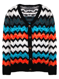 Zigzag Cardigan Sweater