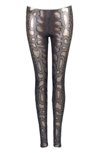 Metallic Cobra Print Leggings