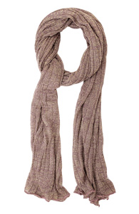 Shiny Knit Scarf