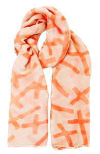 Neon Cross Scarf