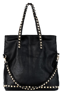 Pyramid Stud Trim Everyday Bag
