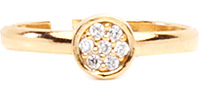 Crystal Cluster Pinky Ring