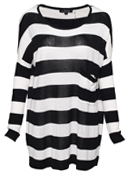 Oversized Bold Stripe Top