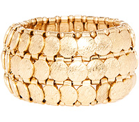 Gold Coin Stretch Bracelet