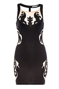 Filigree Cutout Dress