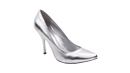 Silver Pointed Pumps