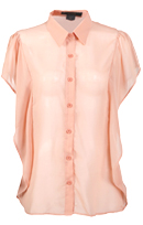 Pleated Back Button Down