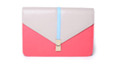 Color Blocked Fliplock Envelope Clutch