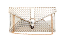 Metallic Woven Buckle Clutch