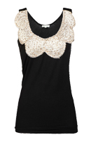 Sequin Scalloped Neck Top
