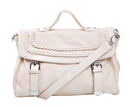 Cream Braided Top Handle Satchel