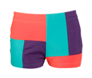 Rectangle Color Block Shorts