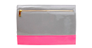 Pink and Grey Color Block Clutch