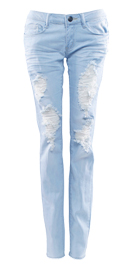 Baby Blue Distressed Bottoms
