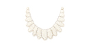 Scalloped Pearl and Rhinestone Bib Necklace