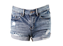 High Waisted Light Wash Ripped Denim Shorts