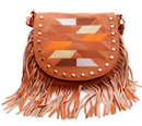 Embroidered Fringe Bag