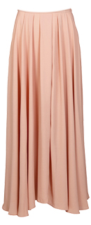 Long Pleated Waist Maxi Skirt