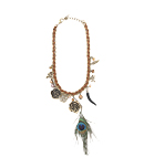 Peacock Feather Woven Necklace