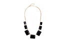 Black Crystal Square Necklace
