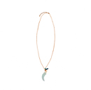 Mint Horn Charm Necklace