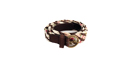 Floral and Leather Braided Belt