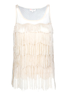Fringe Tulle Top