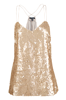 Gold Sequin Sheer Back Top