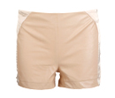 Silk Leather High Waist Shorts