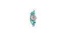 Teal Rhinestone Cord Watch