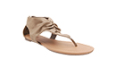Ruched Thong Sandals
