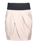 Pleated Skirt with Obi Belt