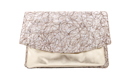 Marbled Metallic Envelope Clutch