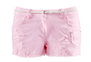 Pink Cut Off Denim Shorts