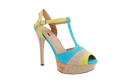 Color Block Cork Platforms