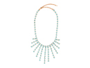 Square Stone Fringe Necklace