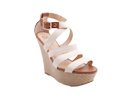Beige Canvas Wedges