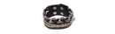 Chained Black Leather Cuff